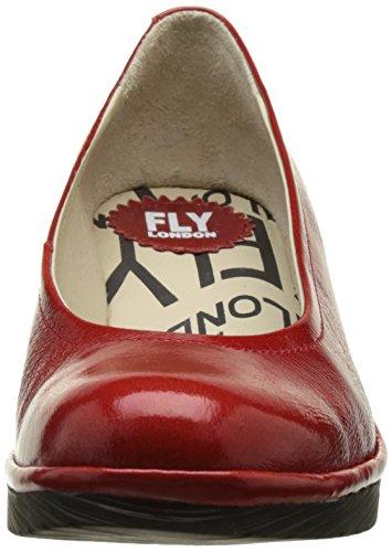 Fly London  Pump, Sandales Compensées  femme Rouge (Red 078)