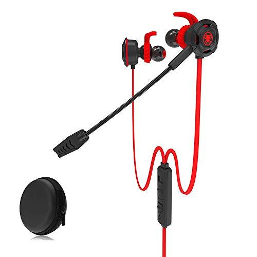 Dtuta KopfhöRer In Ears Mit Mikrofon,Pc-Gaming-Headset Dolby-Sound OhrenschüTzer Bass-RauschunterdrüCkung Kompakt Und Einfach Zu Transportieren Mit Aufbewahrungsbox