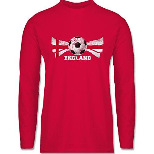 Fußball-WM 2018 - Russland - England Fußball Vintage - Herren Langarmshirt Rot