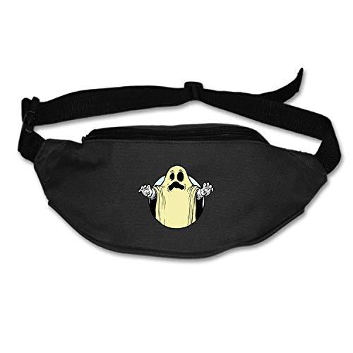 Running Belt Waist Pack, Sports Runner Bag Pouch Adjustable Fanny Pack for iPhone Samsung, Sweatproof Workout Waist Bag for Men Women Hiking Fitness Jogging -Ace of Spades with Skeleton Biker (Aces Halloween Running)