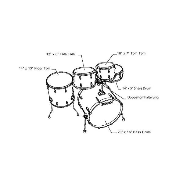 Tama Rhythm Mate Stile Giocattolo Set (5pezzi) con 50,8cm (20pollici) BASS DRUM incluso dreiteiligem Set di piatti/6pezzi hardware