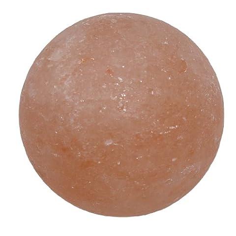 Salzhandstein Salz Seife in Kugel - Form südlich vom Himalaya ideal für Peeling und Sauna.(3410)