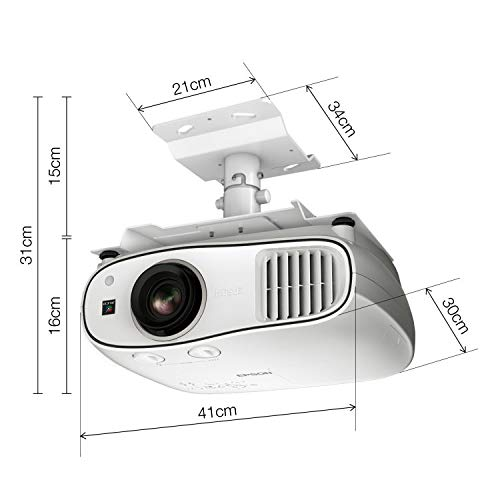 41Bxfqg26FL. SS500  - Epson EH-TW6700W 3LCD, Full HD Super Resolution, 3000 Lumens, 300 Inch Display, Wi-Fi, Wide Lens Shift Range, Home Cinema 3D Projector - White