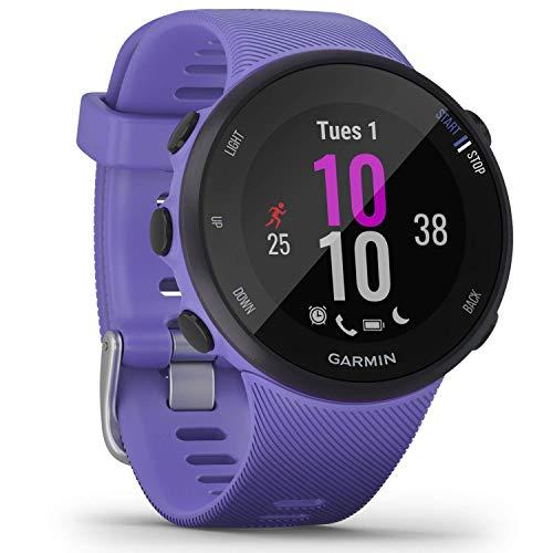 Garmin Forerunner 45S - GPS-Laufuhr im schlanken Design mit umfangreichen Lauffunktionen, Trainingsplänen, Herzfrequenzmessung am Handgelenk, für schlanke Handgelenke, Smartphone Benachrichtigungen