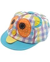 Baby Girls Boys 3-12 Months Cute & Gingham Print Cartoon Owl Sun Hat Baseball Cap Pink, Blue, Red or Yellow