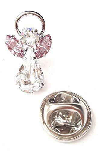 Schutzengel-Pin mit Geburtsstein aus Swarovski-Kristallen-Juni: heller Amethyst