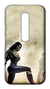 Mott2 Back Case for Motorola Moto G3 | Motorola Moto G3Back Cover | Motorola Moto G3 Back Case - Printed Designer Hard Plastic Case - Mott2 printed case - Wonder Woman theme