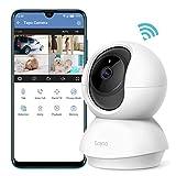Caméra Surveillance WiFi, Tapo camera ip 1080P sans Fil avec Vision Nocturne Détection de Mouvement, Caméra Bébé avec Audio Bidirectionnel Pan/Tilt(Tapo C200)