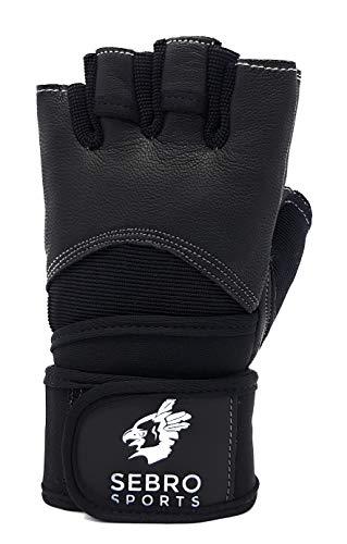 SEBRO SPORTS Trainingshandschuhe für Damen und Herren für Kraftsport und Fitness –aus Leder – Für Schutz und Griffkraft im Training