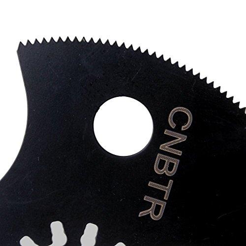cnbtr 88mm schwarz kohlenstoffreicher Stahl Pendelndes Multitool Halbkreis Quick Release Sägeblätter Set 50Stück