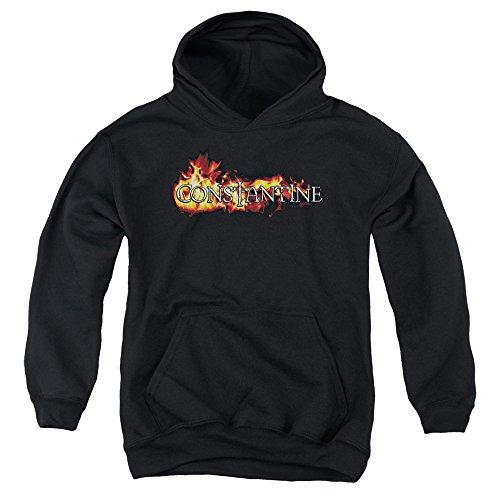 Constantine-Youth Logo-In Flames-Felpa con cappuccio Nero  nero