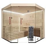EO-SPA Sauna E1201A-IR Pappelholz/236x236/9kW Cilindro