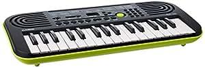 Casio SA-46 Mini Tastiera, 32 Tasti, Nero/Verde