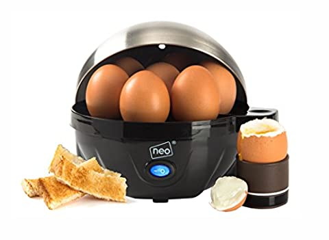 Neo® Stainless Steel Electric Egg Cooker Boiler Poacher & Steamer Fits 7 Eggs