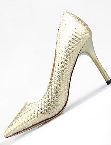 WSS 2016 Chaussures Femme-Mariage / Habillé / Décontracté-Multi-couleur-Talon Aiguille-Talons / Bout Pointu / Bout Fermé-Talons-Cuir golden-us7.5 / eu38 / uk5.5 / cn38