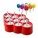 Popsicle Moldes Silicona Moldes de Paletas Mini de Ice Pop sin BPA Stick Helados lolly Maker Juego de Herramientas, Herramientas de Perfecto Para Fiestas