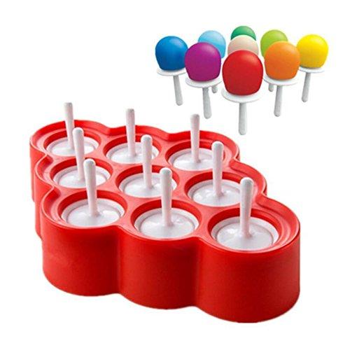 Eisformen BPA Frei Popsicle Formen Eis am Stiel und Eislutscher Formen aus Silikon Eis Pop Macher für Kinder und Erwachsene