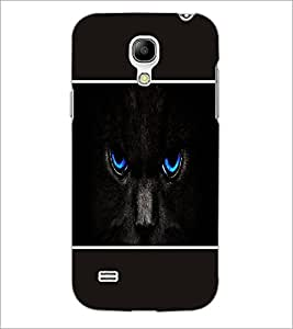 PrintDhaba Cat Eyes D-1422 Back Case Cover for SAMSUNG GALAXY S4 MINI (Multi-Coloured)