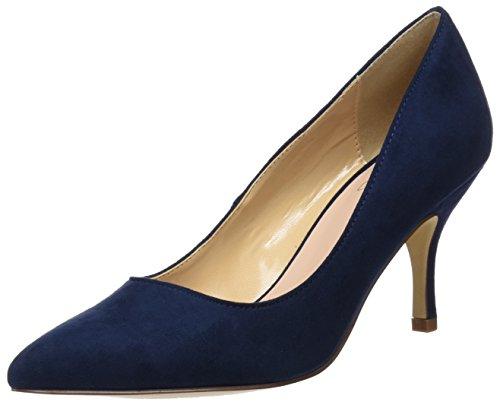 Bata 729199, scarpe col tacco punta chiusa donna, blu, 37 eu
