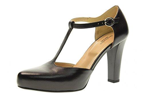 NERO GIARDINI scarpe donna decolletè allacciato P717350DE/100 Nero