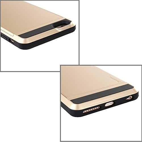Phone case & Hülle Für IPhone 6 Plus / 6S Plus, Blade PC + TPU Kombi-Gehäuse mit Kartensteckplatz ( Color : White ) Gold