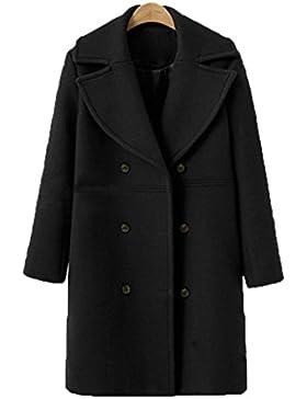 Mantel damen Kolylong® Frauen Elegant Wollmantel Lange Herbst Winter Warm Jacke Verdickte Parka Outwear Vintage...