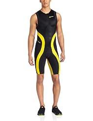 SKINS TRI400 Mono sin mangas de triatlón Hombre negro/amarillo S