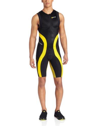 SKINS TRI 400 - Triatlon mouwloos pak voor heren zwart zwart / geel Maat: XS