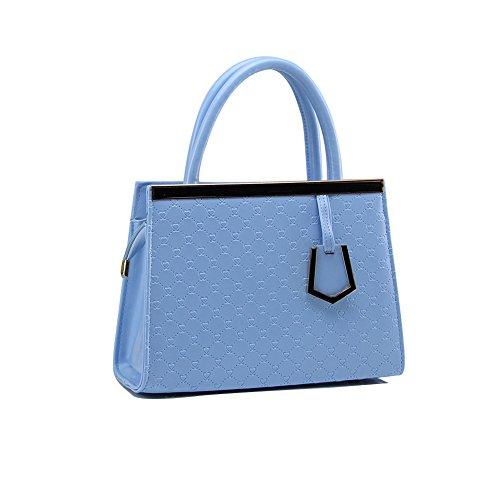 Xiaoxuan semplice Love Patten, in pelle PU, Summer Messager-Borsa da spalla per donna, Blu cielo (Cielo blu) - BG00009F Blu cielo