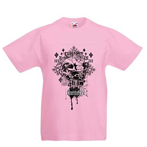 lepni.me Kinder Jungen/Mädchen T-Shirt Heretic, Schädelentwurf - radikal, Gnosis, Radfahrerhemd (1-2 Years Pink Mehrfarben) (Halloween 2019 Toy Story)