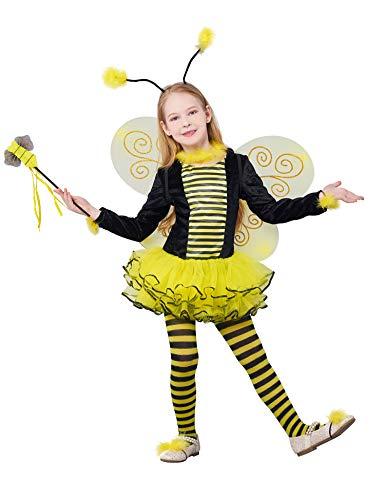 IKALI Costume d'abeille pour Filles, Tenue de avec...