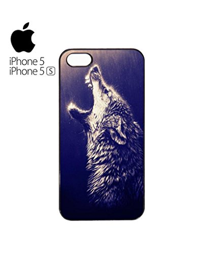 Howling Wolf Rain Native American Cell Phone Case Cover iPhone 5c Black Blanc