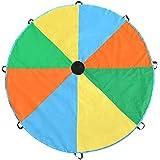 Magicfly Grand Parachute Multicolore Sport en Plein Air Exercice Campus Jeu Jouet 8-Poignées pour Enfant