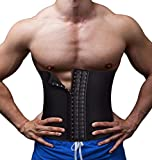 Herren Waist Trainer Korsett für Sport Abnehmen Body Shaper Fitness Workout Trimmer (XXXL, Black)