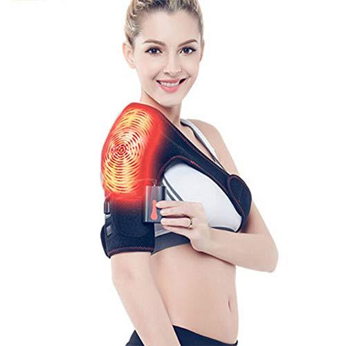 XJZHAN Einstellbare Elektroheizquellen Therapie Schulter Warm Heizkissen Schultergurt Schulterluxation Schulter Rehabilitation