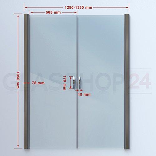 Hochwertige Design Mattglas-Duschabtrennung / Nischendusche mit Lotuseffekt | 90 x 195 cm - 7