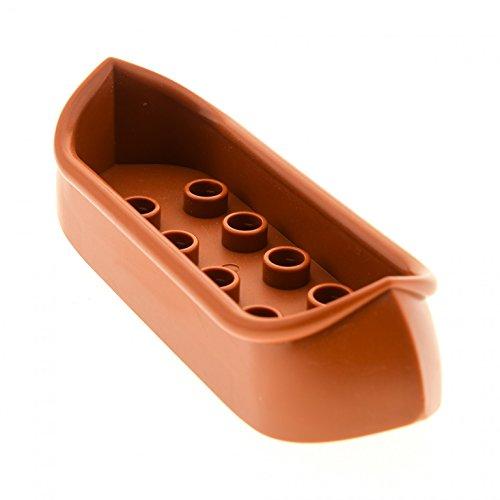 1 x Lego Duplo Boot Kanu 2x8 dunkel orange braun Kajak Canoe Set 5598 31165 (Braun Kanu)