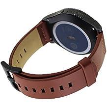 18mm Reloj Bandas Pinhen Reemplazo Liberación Rápida Reloj Bandas Correa de Genuina Piel para Huawei Watch Withings Activite Smart Watch (Piel Brown)