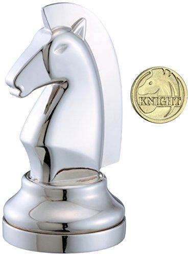 Eureka 473683 Pieza de ajedrez - Caballo, Color Plateado
