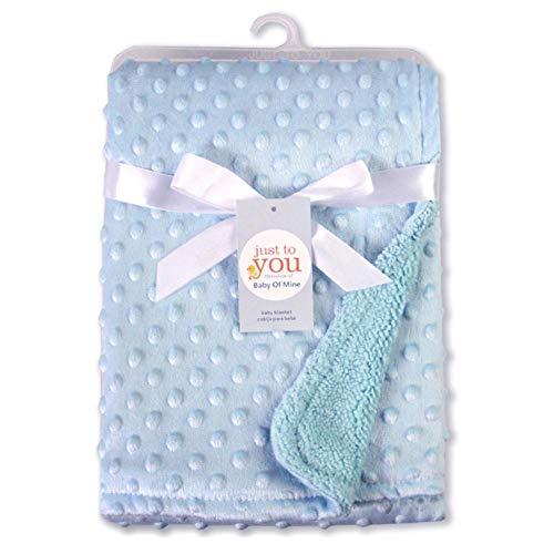 Manta bebé, suave caliente manta burbuja manta doble