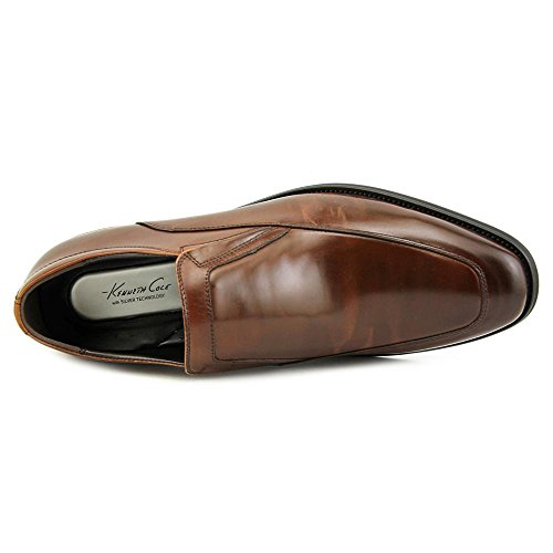 Kenneth Cole NY Put This On Hommes Cuir Mocassin Cognac