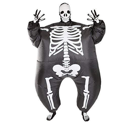 Bodysocks® costume gonfiabile da scheletro per adulti