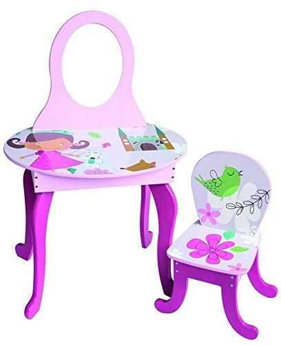 Magic Woodland Frisier- und Maltisch Kindertisch Tischgruppe Frisiertisch rosa/pink 60 x 92 x 38 cm / Stuhl 27 x 51 x 27 cm inkl. 1 Tisch und 1 Stuhl