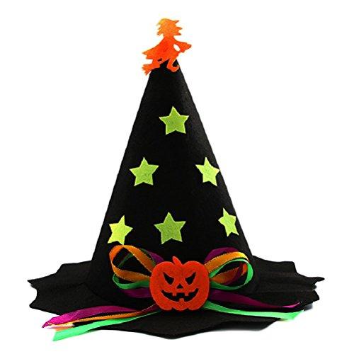 Halloween Non Kostüm - Amosfun Kinder Hut Halloween Kostüme Halloween Dekoration Non-Woven Leistung Zeigen Kürbis Hut Dance Headwear (Schwarz)