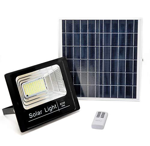Foco solar LEDS-SOLAR 60WEL foco solar de LEDS-SOLAR es perfecto para iluminar exteriores sin necesidad de instalación eléctrica. La lámpara solar LED no requiere de cables y funciona con energía solar, aportando un gran ahorro en su factura eléctric...