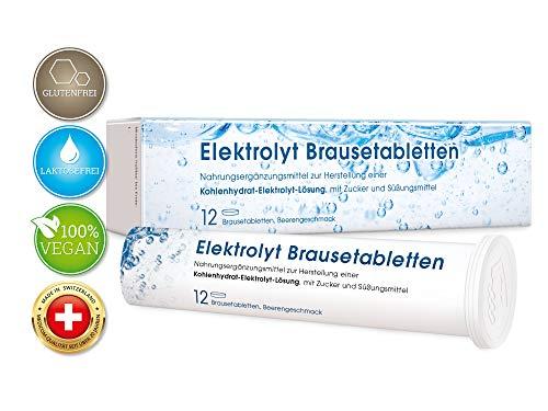 Elektrolyt Brausetabletten mit Natrium & Kalium • Vegan • Elektrolyt Getränk mit Beerengeschmack für die Flüssigkeitszufuhr • 2 x 12 Stk. -