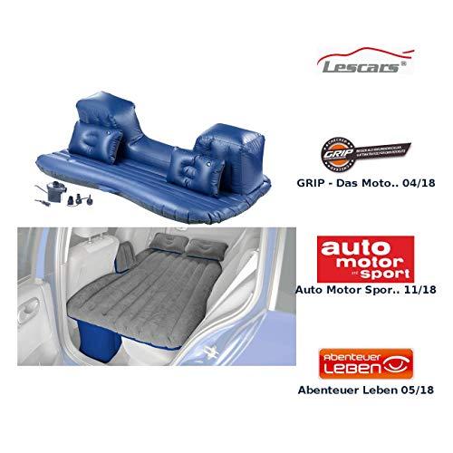 Lescars Auto Luftbett: Aufblasbares Bett für den Auto-Rücksitz mit 12-Volt-Luftpumpe (Aufblasbare Matratze Auto)