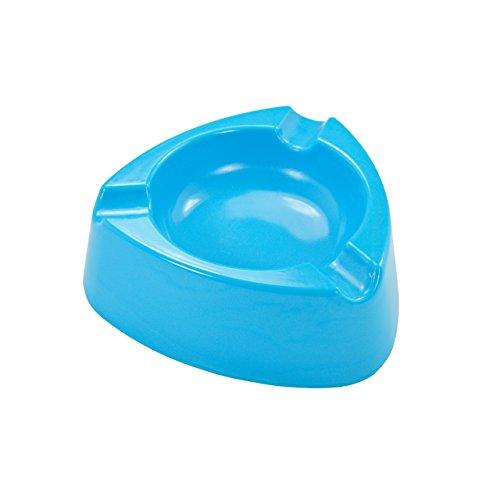 Aschenbecher Ascher aus Kunststoff - Farbe: Hellblau - Durchmesser 12,0 cm - einfach - cool - günstig 5 Stück