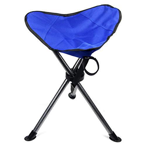 Zhangqiang poggiapiedi sgabellopieghevole portatilesedia pieghevole tela portatile per adulti all'aperto ultraleggero (colore : blue three feet)