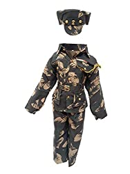 KFD Indian Military Fancy Dress For Kids,Our Helper/National Hero Costume For Annual Function/Theme Party/Stage Shows/Competition Dress